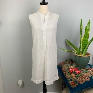 Equipment Kennedy Wall White Eyelet Silk Dress